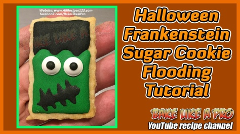 Halloween Frankenstein Sugar Cookie Flooding Tutorial - BakeLikeAPro YouTube.jpg