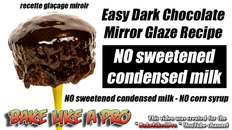 Easy Dark Chocolate Mirror Glaze Recipe