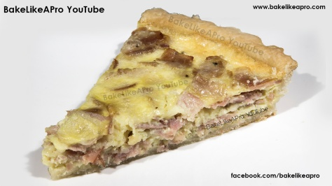EASY AND YUMMY BLACK FOREST AND ONION QUICHE RECIPE